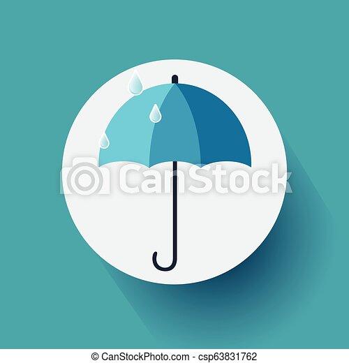 konzervativní, byt, vektor, deštník, ilustrace, grafické pozadí., design, eps10, ikona - csp63831762