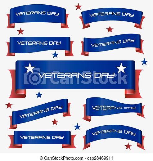 konzervativní, eps10, červeň, oblý, standarta, demobilizovaný voják den, lem - csp28469911