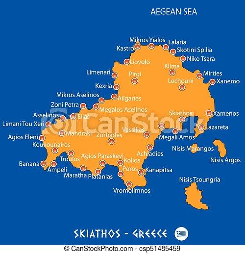 Konzervativni Mapa Ostrov Graficke Pozadi Recko Pomeranc