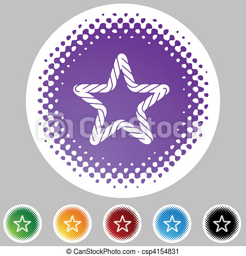 koord, halftone, set, pictogram - csp4154831