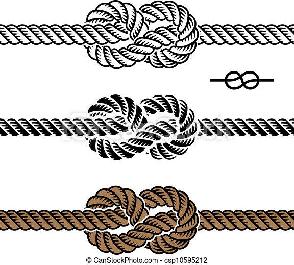 koord, symbolen, vector, black , knoop - csp10595212