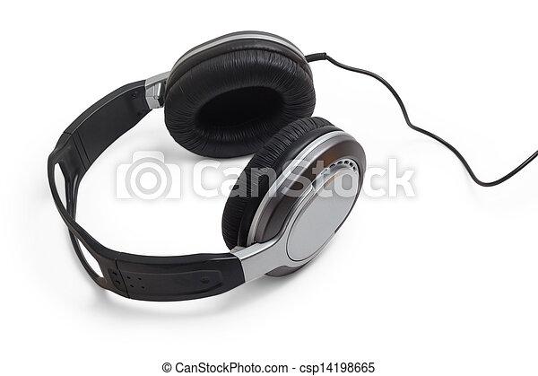 Kopf, draht, kabel, klassisch, telefone, kopfhörer, stereo ...