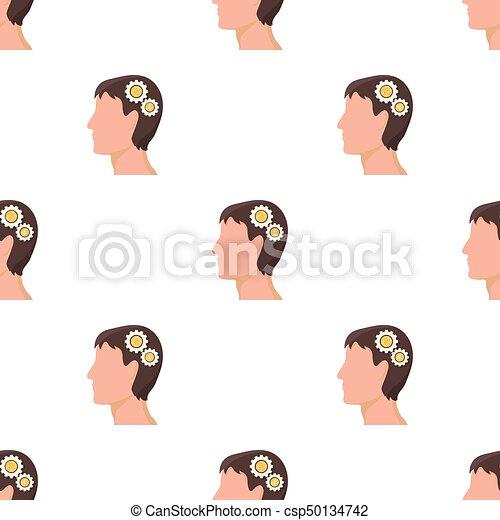 Kopf, generator, symbol, web., ideen, abbildung, ledig,... EPS ...