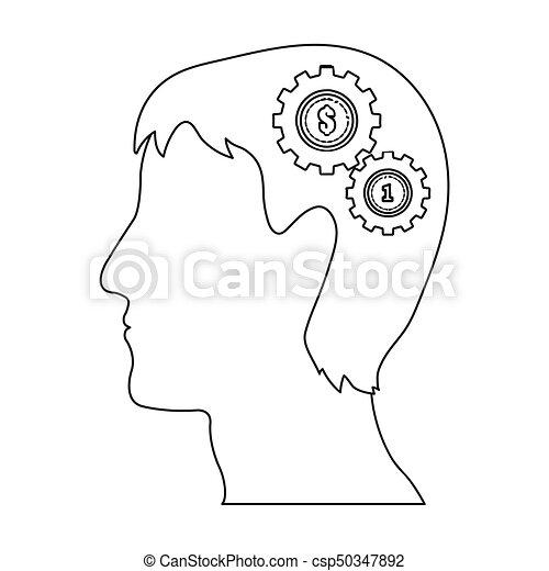 Kopf, grobdarstellung, generator, symbol, web., ideen,... EPS ...