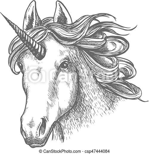 Kopf Horn Erz 228 Hlung Tier Einhorn Fee Oder Antikes