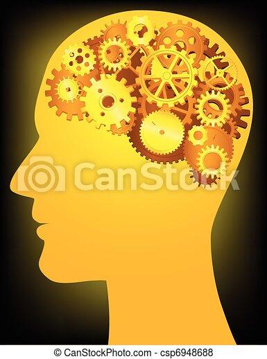 Menschlicher Kopf - csp6948688