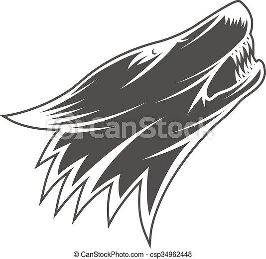 Wolfskopf Illustration - csp34962448