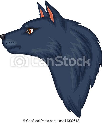 Kartoon Wolfskopf - csp11332813