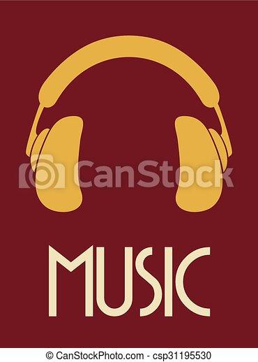 Kopfhörer, musik, ikone Vektoren - Suche Clipart, Illustration ...