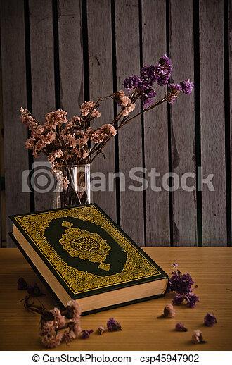 koran, książka, -, święty, muslims - csp45947902