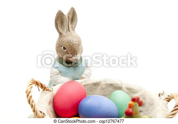korb, eier, ostern - csp12767477