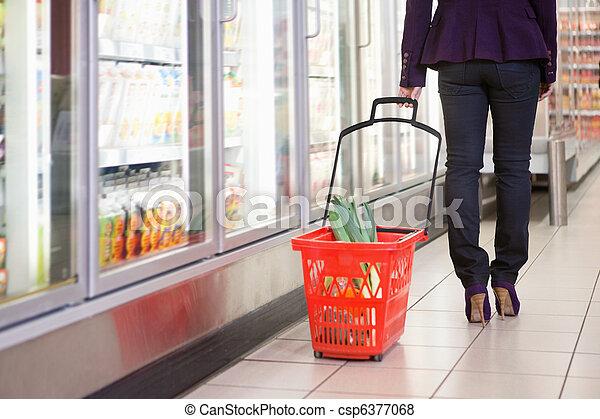 Kühlschrank Korb : Korb frau einkaufen gehen frau einkaufen zentrum abschnitt
