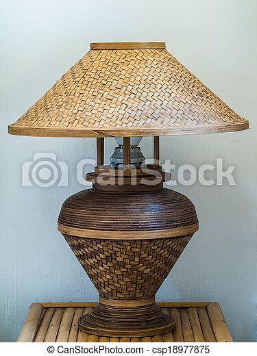 Korbgeflecht Bambus Lampe Wand Korbgeflecht Lampe Hintergrund