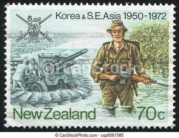Korea and Southeast Asia war - csp9361580