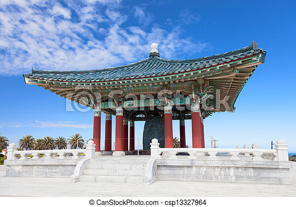 Korean Bell of Friendship pagoda - csp13327964