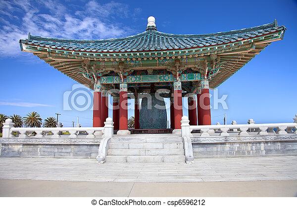 Korean Bell of Friendship pagoda - csp6596212