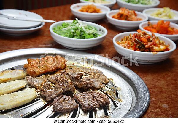 Korean cuisine : barbecue grill - csp15860422