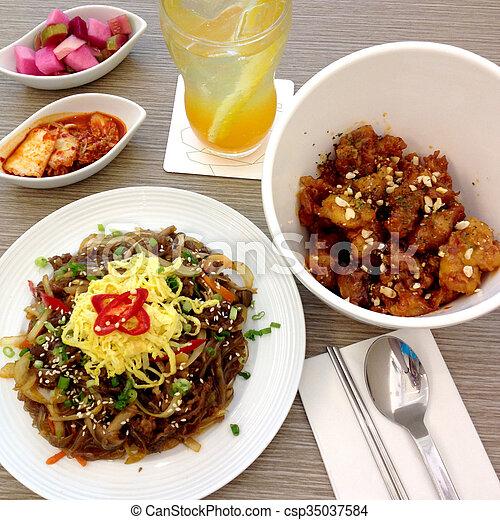Korean cuisine - csp35037584