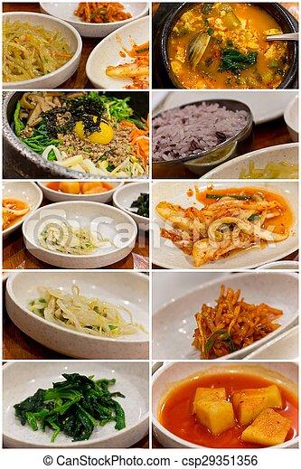 Korean Food Collage - csp29351356