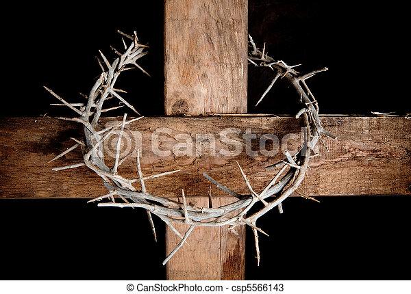 korona, krzyż - csp5566143