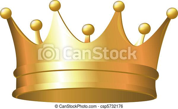 korona, złoty - csp5732176