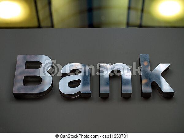 korporacja, bank, handlowe biuro, znak - csp11350731