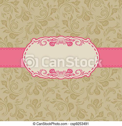 kort, ram, design, hälsning, mall - csp9253491
