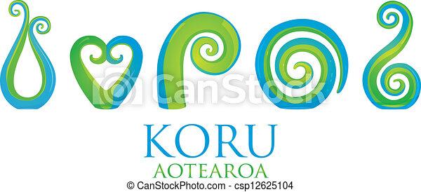 86bd8294e98ad A set of glass maori koru curl ornaments.