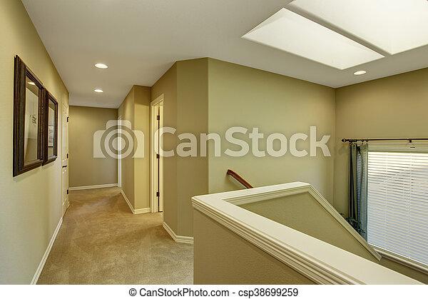 Fantastyczny Korytarz, ściany, dywan, zielony, podłoga. Korytarz, podłoga HB73