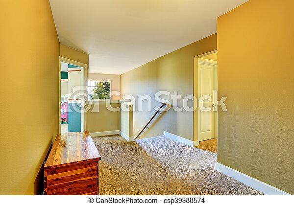Fantastyczny Korytarz, drewniany, żółty, skrzynia, beżowy, wewnętrzny, dywan BW99