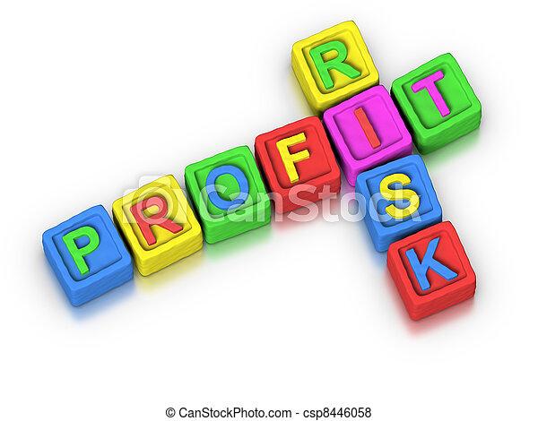korzyść, krzyżówkowa zagadka, :, ryzyko - csp8446058