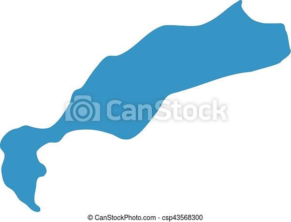 Kos map silhouette - csp43568300