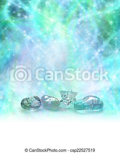 kosmiczny, kryształy, gojenie - csp22527519