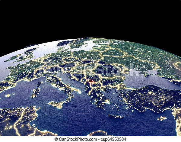 Kosovo on Earth from space