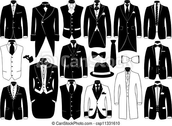 kostuums, set, illustratie - csp11331610