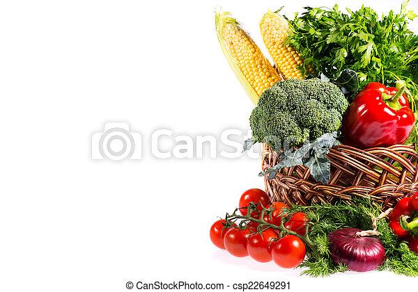 kosz, świeża zielenina, śliczny - csp22649291