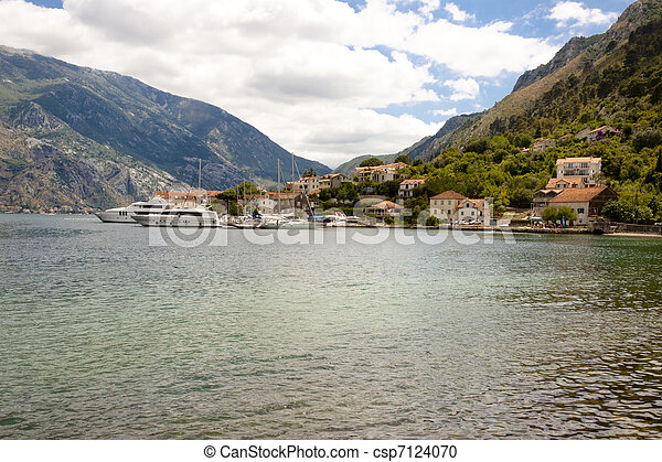kotor, -, synhåll, montenegro, vik - csp7124070