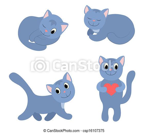 koty, komplet, 3., szczęśliwy - csp16107375