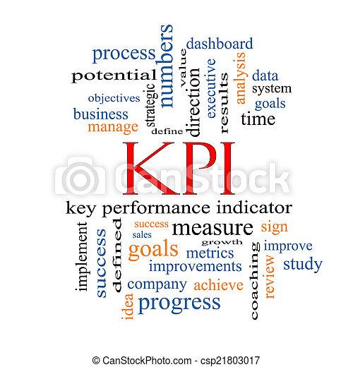 kpi, concept, mot, nuage - csp21803017
