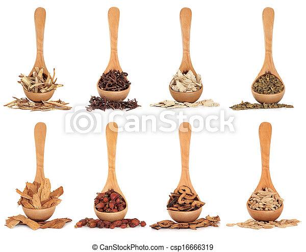 kräutermedizin, chinesisches  - csp16666319