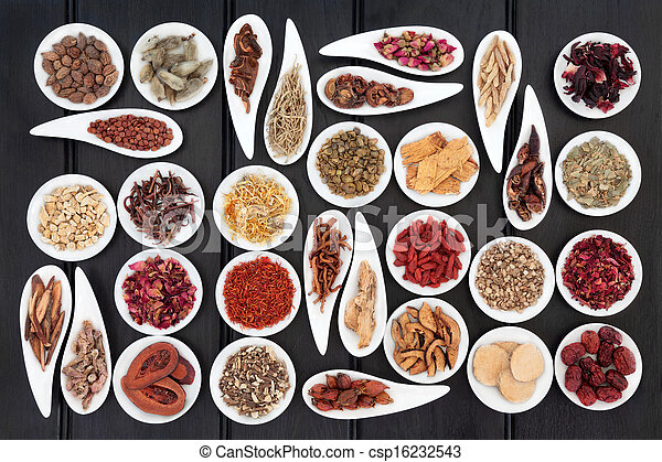 Chinesische Kräutermedizin - csp16232543