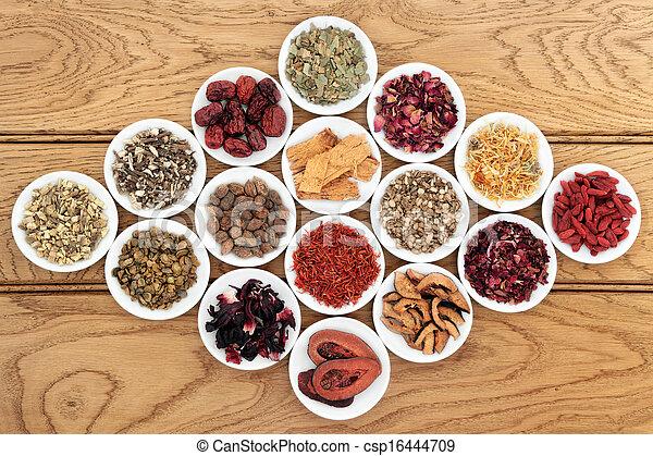 kräutermedizin, chinesisches  - csp16444709