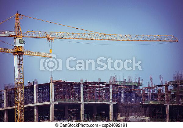 kraan, bouwsector, achtergrond - csp24092191
