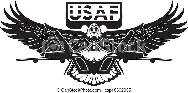 kraft, -, os, luft, militær, design. - csp18692955