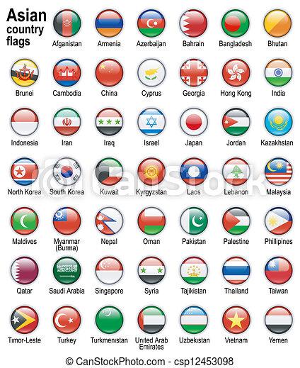 kraj, bandery, asian - csp12453098