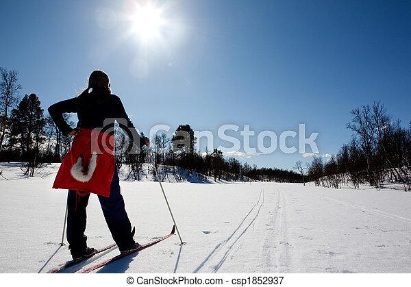 kraj, krzyż, narciarstwo - csp1852937