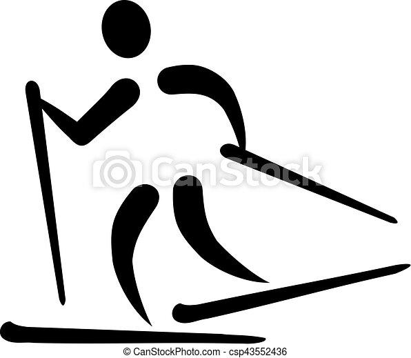 kraj, narciarstwo, krzyż, ikona - csp43552436