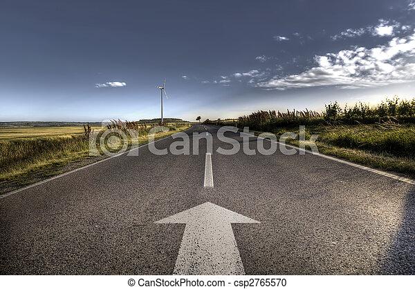 kraj, silny, droga, asfalt, migotać - csp2765570