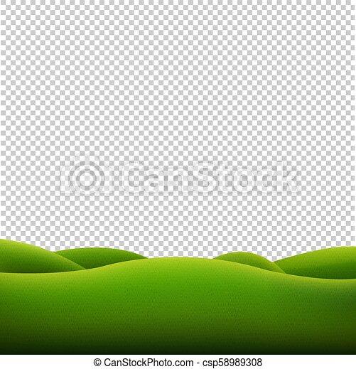 krajobraz, zielony, odizolowany, tło, przeźroczysty - csp58989308