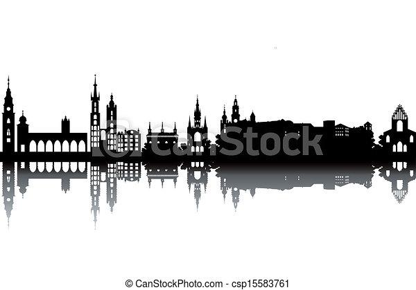 Krakow skyline - csp15583761